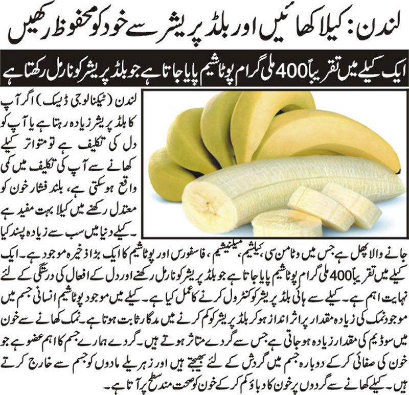 Control Your Hypertension with Banana-Tips in Urdu & English