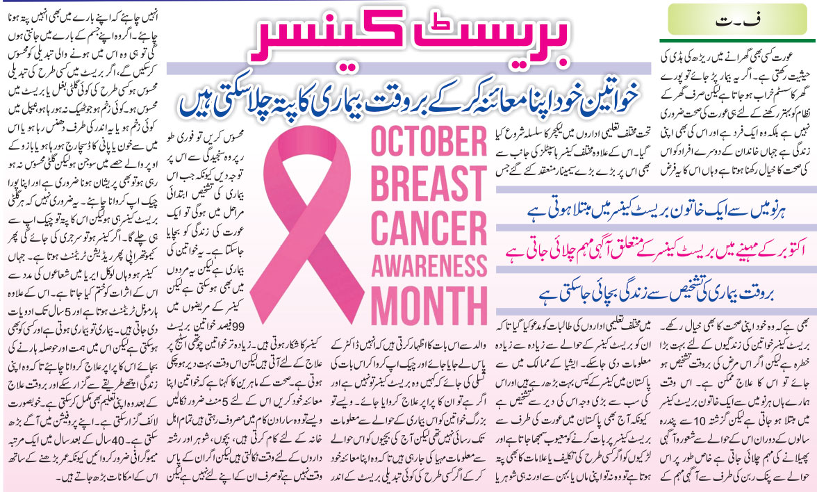 Breast Cancer Symptoms, Causes, Precautions & Treatment (Urdu & English)