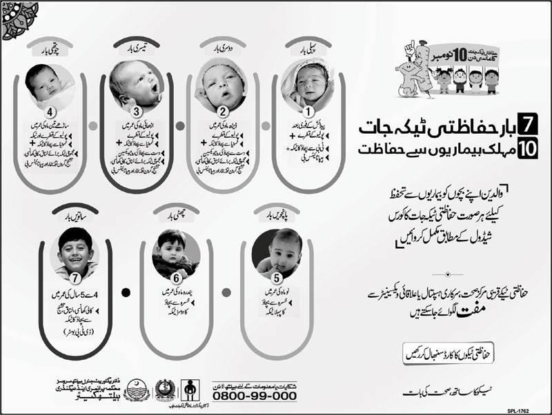 Child Vaccination, Immunization Benefits & Schedule in Pakistan