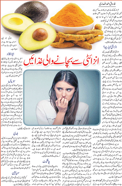 Best Diet Plan & Health Tips To Control Anxiety (Urdu-English)