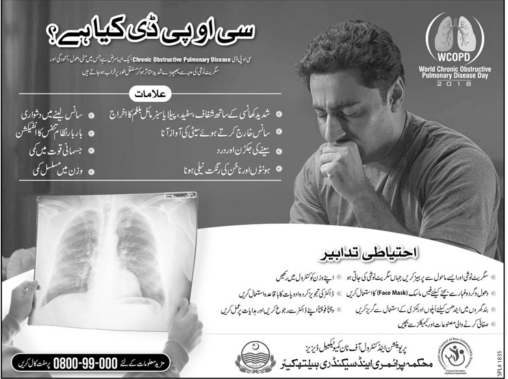 COPD Symptoms, Causes, Preventions & Treatment (Urdu-English)